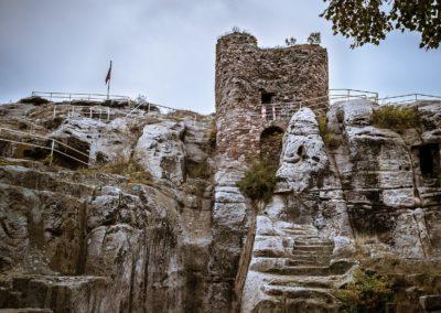 Zur Burg Regenstein bei Blankenburg